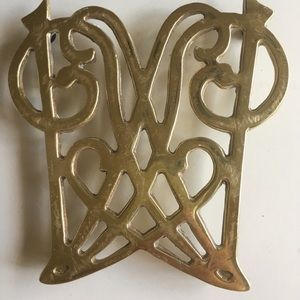 Vintage James Madison Cypher Solid Brass Trivet